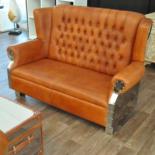 Oxford Steel Vintage Sofa