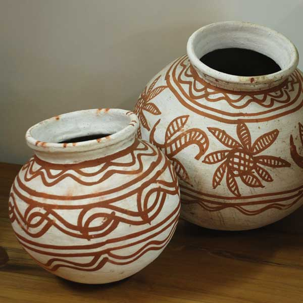 Clay Pots Painted Small